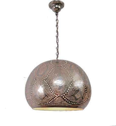BR420 Tin Mosaic Home Decor Night Ball Silver Lampshade Hanging Lamp