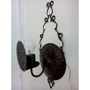 BR200M Unique Antique Reproduction Brass Wall Sconce with Bulb Screen