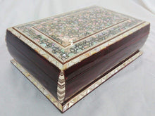 Load image into Gallery viewer, J83 Beautiful MOP Mosaic Trinket Egyptian Bombe Bombay Jewelry Box