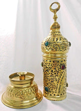 Load image into Gallery viewer, BR50M Handmade Brass Table Lamp Incense Burner Candle Holder