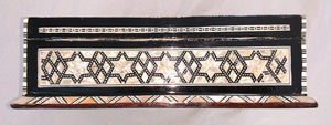 J87 Mother of Pearl Mosaic Trinket Egyptian Rectangular Velvet Jewelry Box