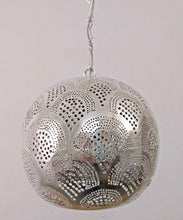 Load image into Gallery viewer, BR424 Tin Mosaic Home Decor Night Ball Silver LED Lampshade Hanging Lamp
