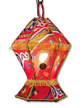 Load image into Gallery viewer, AA99 Ramadan Decoration Egyptian Hexagonal Fabric Table LED Kids Fanous Lantern