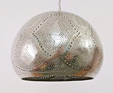 Load image into Gallery viewer, BR420 Tin Mosaic Home Decor Night Ball Silver Lampshade Hanging Lamp