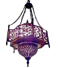 Load image into Gallery viewer, BR102 Unique Pendant Moroccan Art Swag Metal/Brass Lamp
