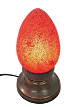 Load image into Gallery viewer, B75R New Raw Stone Texture Glass Egg Red Desk/Table Lamp Tin Base