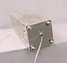 Load image into Gallery viewer, BM13 Handmade Silver Plated Tin Square Filigrain LED Table/Floor Lamp