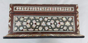 J82 XXL Mother of Pearl Mosaic Chest Egyptian Rectangular Jewelry Box