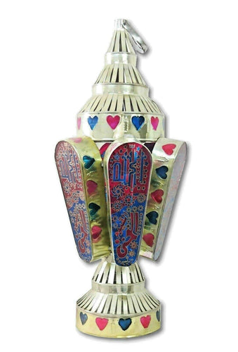 AA80 Large Classic Egyptian Ramadan Lantern Colored Glass Table/Hanging Lamp