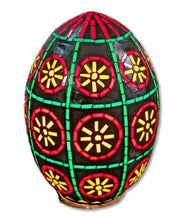 Load image into Gallery viewer, B127R Handcrafted Colored Glass Egg Mosaic Night Table/Pendant Lamp