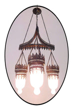Load image into Gallery viewer, BR135M (3 in 1) Art Deco Frosted White Glass Triple Lampshade Chandelier