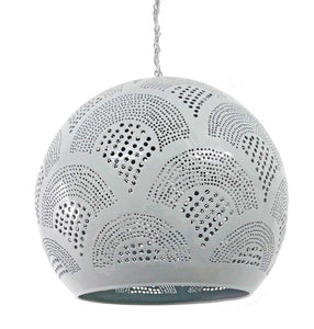 B262G Tin Moroccan Children Color Cheerful Ball Lampshade Gray Hanging Lamp