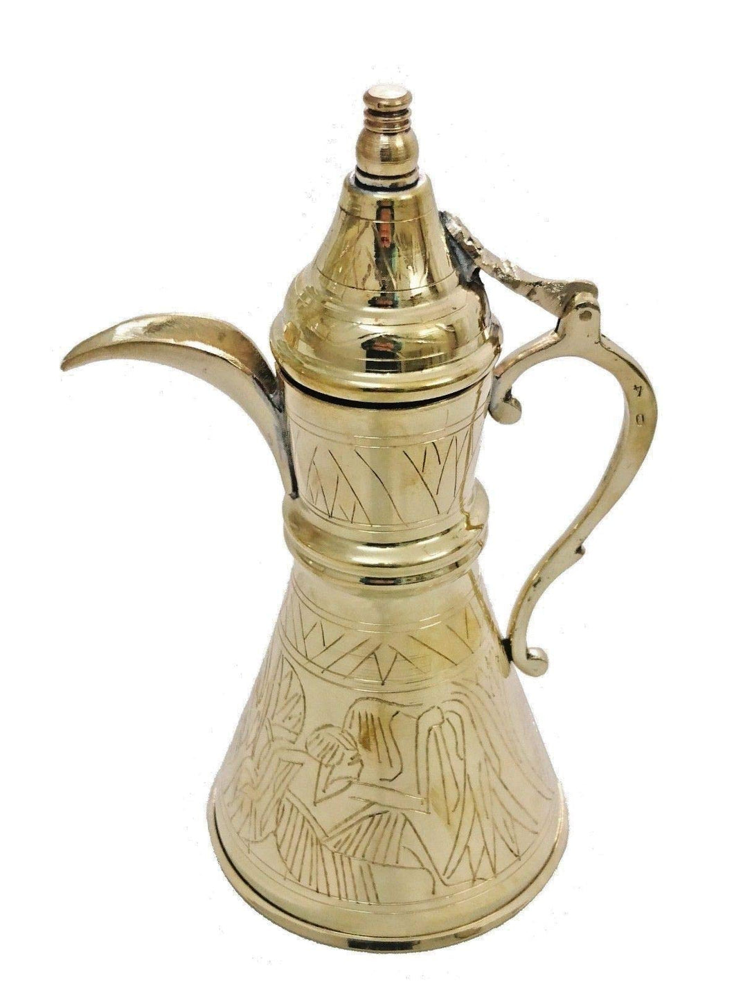 BM2 Vintage Reproduction Turkish Brass Pitcher, Made in Egypt