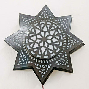 "BM20 14"" Dia Moroccan Star Flush Ceiling LED Light Fixture Chandelier/Wall Sconce"