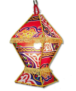 AA100 Ramadan Decoration Egyptian Square Fabric Table LED Kids Fanous Lantern
