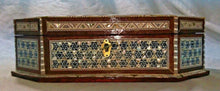 Load image into Gallery viewer, J71 Gorgeous Mother of Pearl Mosaic Trinket Octagonal Egyptian Chest Jewelry Box
