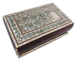 J83 Beautiful MOP Mosaic Trinket Egyptian Bombe Bombay Jewelry Box