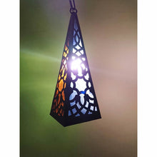 Load image into Gallery viewer, BR389 Square Moroccan Egyptian Pyramid Art Hanging/Table Lantern/Lamp