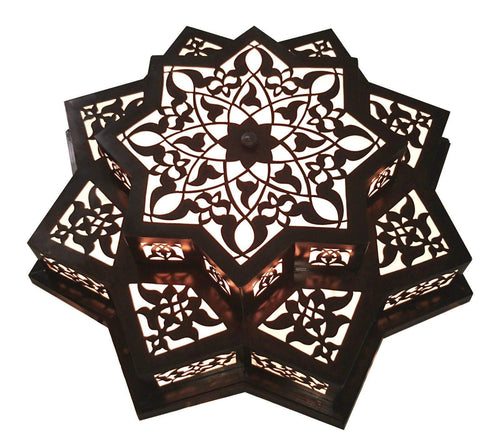 BM5 Antique Reproduction Moroccan Star Chandelier Flush Ceiling Light Fixture