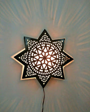 "Load image into Gallery viewer, BM20 14"" Dia Moroccan Star Flush Ceiling LED Light Fixture Chandelier/Wall Sconce"
