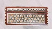 Load image into Gallery viewer, J80W XXL Mother of Pearl Mosaic Chest Egyptian Rectangular Jewelry Box