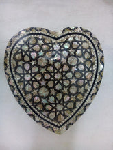 Load image into Gallery viewer, J32 Gorgeous Mother of Pearl Mosaic Trinket Egyptian Heart Gift Jewelry Box