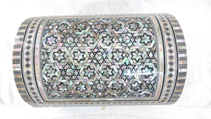 J38 Gorgeous MOP Mosaic Trinket Egyptian Large Bombe Bombay Jewelry Box