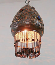 Load image into Gallery viewer, BR413 Oriental Jeweled Pendant Art Moroccan Globe Lampshade Chandelier