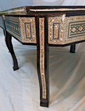 Load image into Gallery viewer, W116 Large Mother of Pearl Egyptian Wood Rectangular Table Brown End Coffee