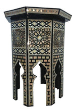 Load image into Gallery viewer, W104 Mother of Pearl Octagonal Corner Wood Table Arabesque End Coffee Trinket