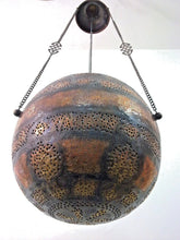 Load image into Gallery viewer, B76 Antique Vintage Reproduction Islamic Mamluk Large Hanging Ball Lamp