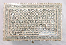 Load image into Gallery viewer, J81 XXL Mother of Pearl Mosaic Chest Egyptian Rectangular Jewelry Box