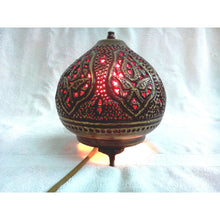 Load image into Gallery viewer, BR355 Moroccan Night Tea Light Handcrafted Brass Table Lamp