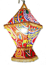 Load image into Gallery viewer, AA96R Wall-Plug Ramadan Decoration Egyptian Square Fabric LED Folding Lantern