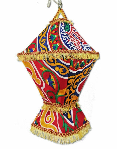 AA96R Wall-Plug Ramadan Decoration Egyptian Square Fabric LED Folding Lantern