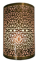 Load image into Gallery viewer, B196V Elegant Handmade Filigree Moroccan Cylinder Brass Wall Decor Sconce