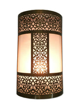 Load image into Gallery viewer, B296 Unique Moroccan Handmade Brass Wall Decor LED Light Fixture Sconce
