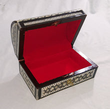Load image into Gallery viewer, J42 Gorgeous Mother of Pearl Mosaic Trinket Egyptian Bombe Bombay Jewelry Box