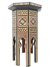 Load image into Gallery viewer, W163 Vintage Moroccan Handcraft Mother Of Pearl Inlay Coffee Side Table Trinket