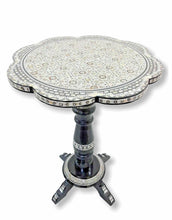 Load image into Gallery viewer, W76 Mother Of Pearl Handcrafted Inlay Art round Moroccan End Table