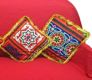 AA106 Ramadan Decor Egypt Tent Fabric- Pillow Cases/Covers & Table Cloth Set