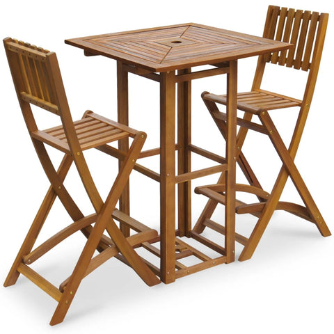 3 Piece Bistro Set Solid Acacia Wood
