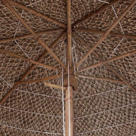 Bamboo Parasol with Banana Leaf Roof 82.7