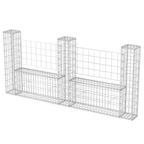 Gabion Basket U-Shape Galvanised Steel 94.5x7.9x39.4