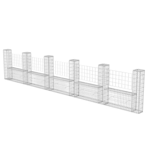 Gabion Basket U-Shape Galvanised Steel 224.4x7.9x39.4