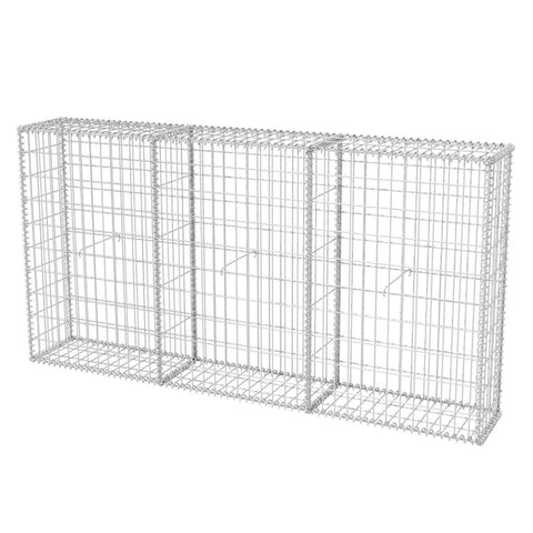 Gabion Basket Galvanised Steel 78.7x11.8x39.4