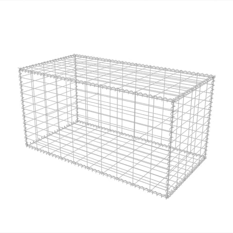 Gabion Basket Galvanised Steel 39.4x19.7x19.7