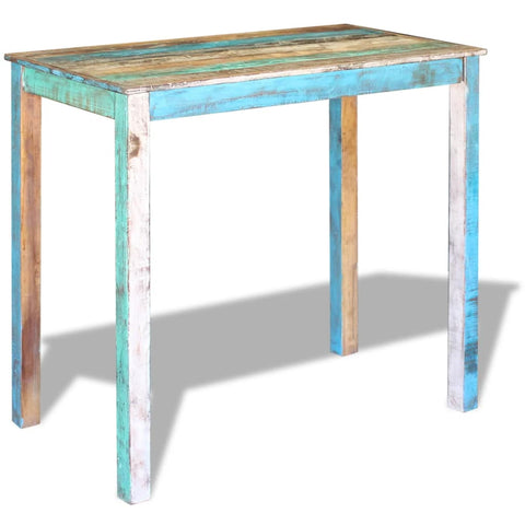 Bar Table Solid Reclaimed Wood 45.3x23.6x42