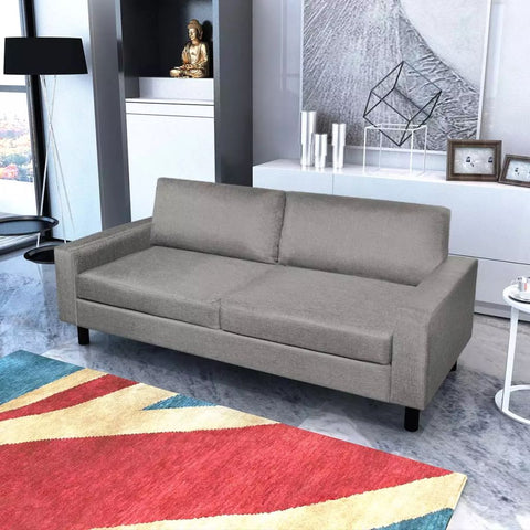 3-Seater Sofa Light Gray