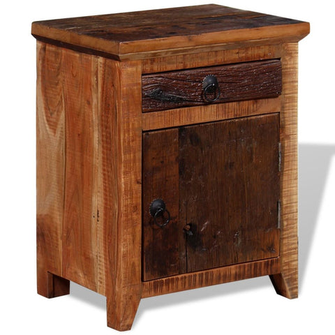 Nightstand Solid Acacia Reclaimed Wood
